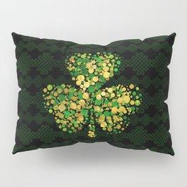 Decorative Irish Shamrock -Clover Gold and Green Pillow Sham