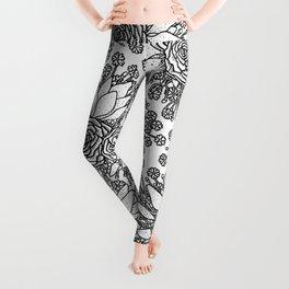 Floral Pattern 4 Leggings