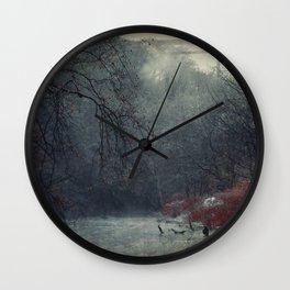 Between Fall And Winter III Wall Clock