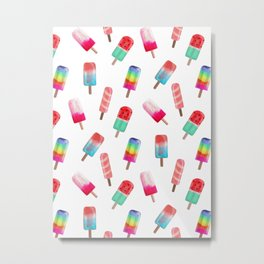 Watercolored Popsicles Metal Print