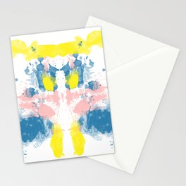 Personality Test: Blue&Yellow Blot Stationery Cards