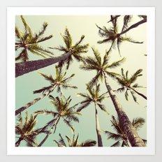 Palm Trees Sway  Art Print