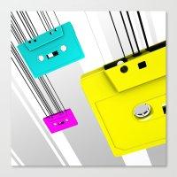 cassette Canvas Prints featuring Cassette by Delaney Digital