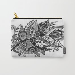 Zentangle Feather Carry-All Pouch