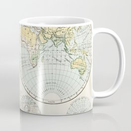 Old Map of The Globe Coffee Mug