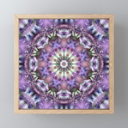Lilac Mandala Framed Mini Art Print