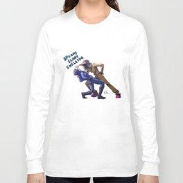 Spooky Scary Skeletor Long Sleeve T-shirt