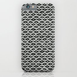 Black & White Tribal Pattern iPhone Case