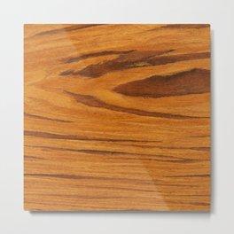 Teak Wood Metal Print
