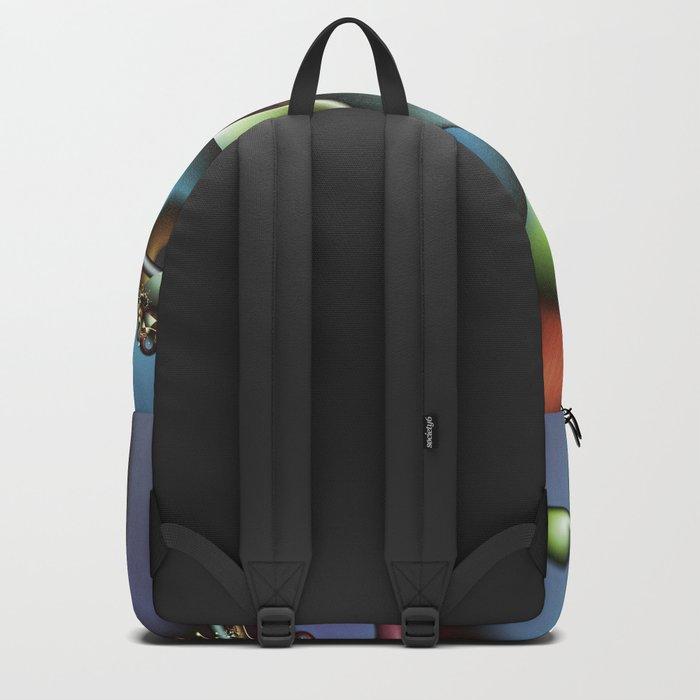 The Joker Multicolored Fractal Spiral Backpack
