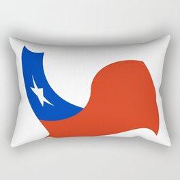Flag of Chile 3 -Spanish,Chile,chilean,chileno,chilena,Santiago,Valparaiso,Andes,Neruda. Rectangular Pillow