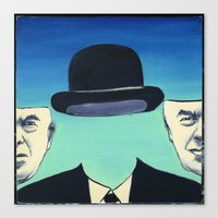 magritte Canvas Prints featuring Magritte by Lois Brand
