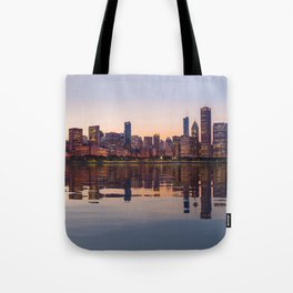 Panorama of the City skyline of Chicago Tote Bag