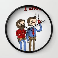 tool Wall Clocks featuring tool time. by dann matthews