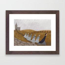 Dark Cold Days Framed Art Print