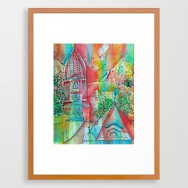 MOUNTAINVIEW Framed Art Print