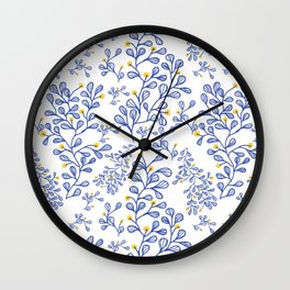 Petite mon amour blue Wall Clock