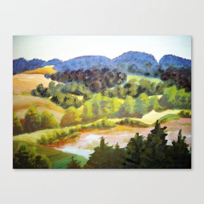 Landscape near the Lake Kaarna / Maastik Kaarna järve ääres Canvas Print