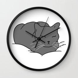 Loaf of Cat Wall Clock