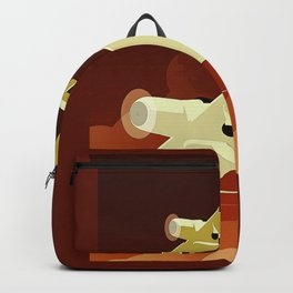 Art Deco Single Engine Planes Backpack