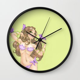 April's Girl Wall Clock