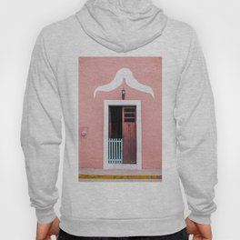 Pink House in Mexico Hoody
