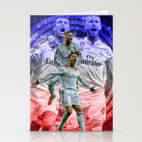 ronaldo Stationery Cards featuring Ronaldo & Ramos by Cr7izbest