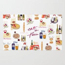 Paris Food Map Rug