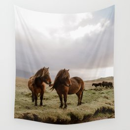 Two Icelandic Ponies Wall Tapestry