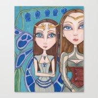 fairies Canvas Prints featuring Fairies by Jennifer D. S. Stedman