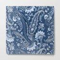 Blue indigo paisley by catyarte