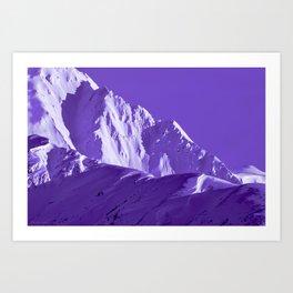 Alaskan Mts. I, Bathed in Purple Art Print