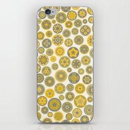 Millefiore Circles - color: Gold, Silver & Bronze iPhone Skin