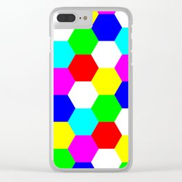 Hexagon Tesselation of Colors Clear iPhone Case