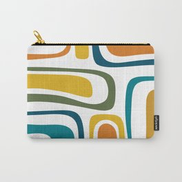Palm Springs Midcentury Modern Abstract in Moroccan Teal, Orange, Mustard, Olive, and White Carry-All Pouch