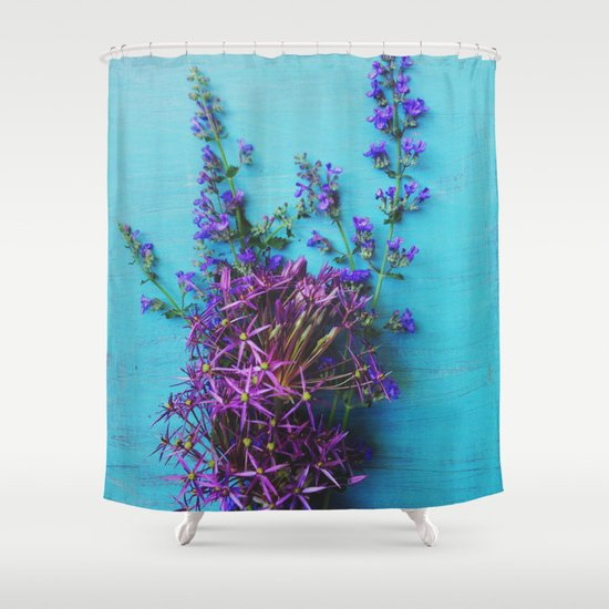She Found Stray Flowers and Brought Them Home Shower Curtain