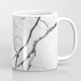 impression of a tree in black and white Coffee Mug