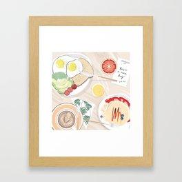 Breakfast in Bed (Los Angeles) Framed Art Print
