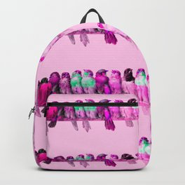 "Hector Giacomelli ""A Perch of Birds""(edited pink) Backpack"