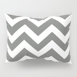 Nickel - grey color - Zigzag Chevron Pattern Pillow Sham