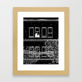 Winter with you Framed Art Print