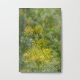 Layered Wildflowers Metal Print