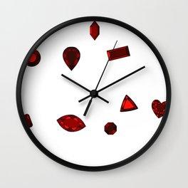 January Birthstone Wall Clock