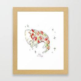 Stuffed Crust Pizza Framed Art Print