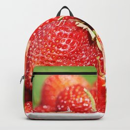 Plate with strawberry Backpack