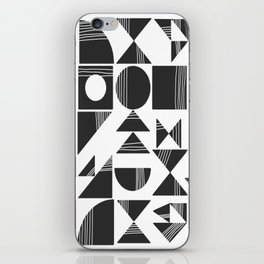 Shape and Line in Black and White iPhone Skin