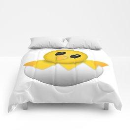 Hatching baby chick Emoji Comforters