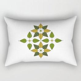 Aoba, Green Leaves Rectangular Pillow