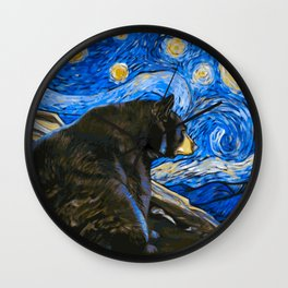 Bear Van Gogh (Painting Retouch) Wall Clock