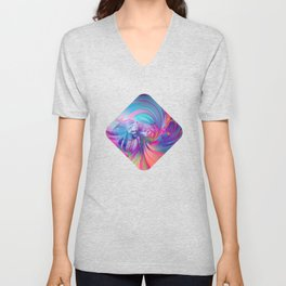 Smooth Swirling Unisex V-Neck